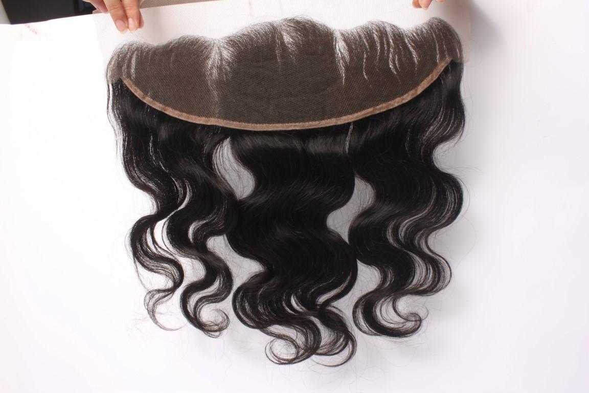 forntal de pelo virgen 13x4